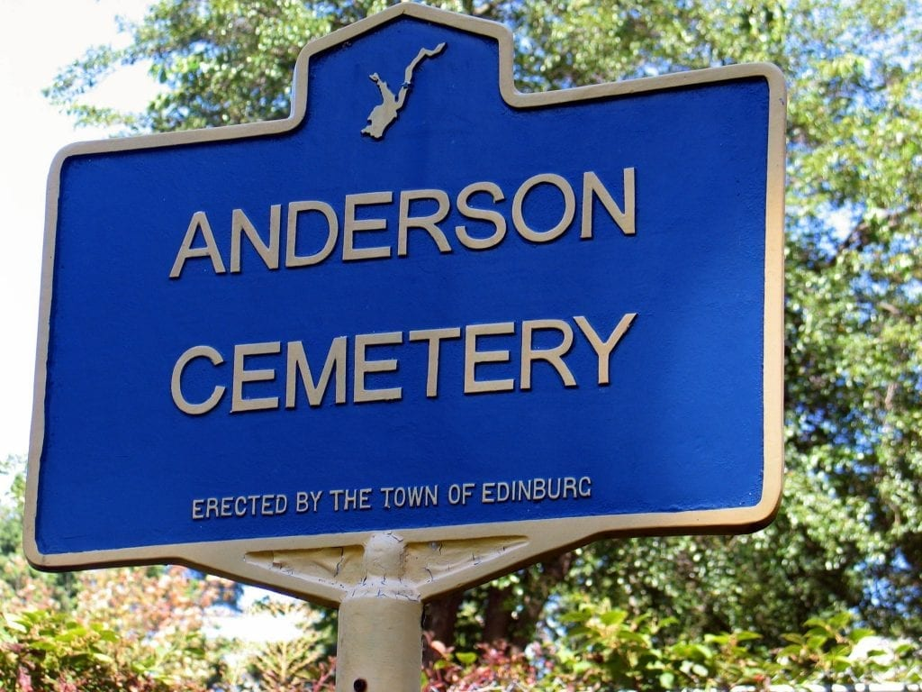 Anderson Cemetery Marker